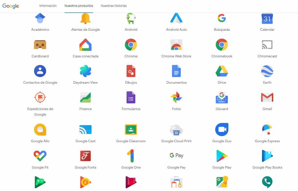 Curso de aplicaciones de google